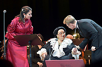 Montserrat Marti, Montserrat Caballe, Igor Portnoy<br /> Perfomance at State Kremlin palace, Moscow, Russia on June 06,  2018.<br /> **Not for sale in Russia or FSU**<br /> CAP/PER/EN<br /> &copy;EN/PER/Capital Pictures