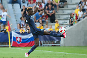 June 19th 2017, Kielce, Poland; UEFA European U-21 football championships, England versus Slovakia; Tammy Abraham (ENG) controls the ball from going out of touch