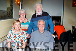 John and Ester Lyne, Killarney (seated) celebrated their 45th wedding anniversary with their friends Kay and Michael Finnegan in lord Kenmares restaurant on Saturday