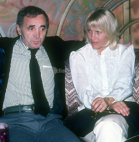 Charles Aznavour &amp; wife Ulla 1985<br /> Photo By John Barrett/PHOTOlink.net / MediaPunch