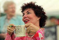 Pictured: Ruby Wax signing copies of her book 'Frazzled' Monday 30 May 2016<br /> Re: Hay Festival, Hay on Wye, Wales, UK