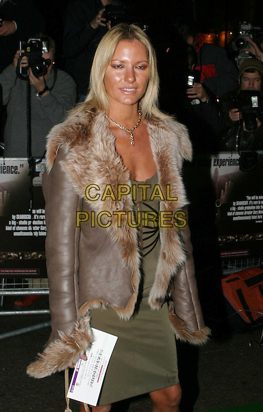 ALEX BEST.Seabiscuit UK Charity Premiere, Warner Village Leicester Square & Champagne Reception at Park Lane Hotel.fur coat, tanned, fake tan.www.capitalpictures.com.sales@capitalpictures.com.© Capital Pictures.