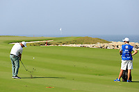 Jordan Smith (ENG) during the third round of the NBO Open played at Al Mouj Golf, Muscat, Sultanate of Oman. <br /> 17/02/2018.<br /> Picture: Golffile | Phil Inglis<br /> <br /> <br /> All photo usage must carry mandatory copyright credit (&copy; Golffile | Phil Inglis)