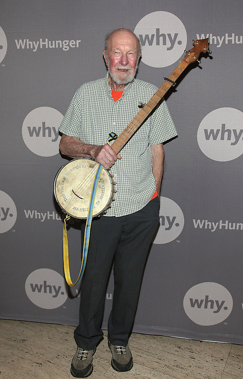 NEW YORK - JUNE 21:  Pete Seeger attends WhyHunger's 35th anniversary celebration at Gotham Hall on June 21, 2010 in New York City.  (Photo by Donald Bowers)