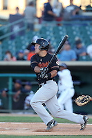 Ryan Wright #9 of the Bakersfield Blaze bats against the Lancaster JetHawks at The Hanger on May 13, 2014 in Lancaster California. Lancaster defeated Bakersfield, 1-0. (Larry Goren/Four Seam Images)