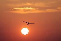 Segelflug, Windenstart, Sonnenuntergang, Abendrot, ASK 13