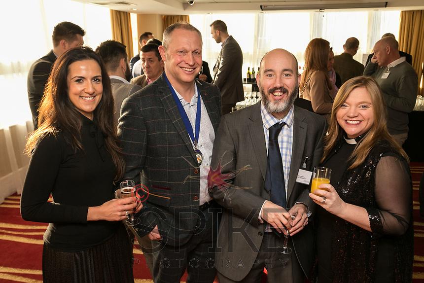 From left is Nikki Aston of Buckles, NCBC President Mark Deakin, Luke Appleby of Buckles and the Rev Kate Bottley