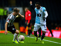 Blackburn Rovers' Amari'i Bell takes on Newcastle United's Matt Ritchie<br /> <br /> Photographer Alex Dodd/CameraSport<br /> <br /> Emirates FA Cup Third Round Replay - Blackburn Rovers v Newcastle United - Tuesday 15th January 2019 - Ewood Park - Blackburn<br />  <br /> World Copyright © 2019 CameraSport. All rights reserved. 43 Linden Ave. Countesthorpe. Leicester. England. LE8 5PG - Tel: +44 (0) 116 277 4147 - admin@camerasport.com - www.camerasport.com