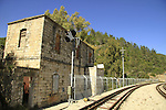 Israel, Jerusalem mountains, old Bar Giora train station in Nahal Sorek