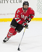 Milos Bubela (RPI - 17) - The Harvard University Crimson defeated the visiting Rensselaer Polytechnic Institute Engineers 5-2 in game 1 of their ECAC quarterfinal series on Friday, March 11, 2016, at Bright-Landry Hockey Center in Boston, Massachusetts.