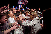 Paris, France.May 6, 2007..Defence Minister Michele Alliot-Marie celebrates with supporters during a rally at The Place de la Concorde. Voters turned out in record numbers to elect Sarkozy as their next President ahead of Socialist candidate Segolene Royal.....