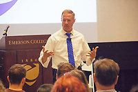 Governor Martin O'Malley speaks at Emerson College on topics such as Trump's America, the future of our nation, and the importance of voting in the next Presidential Election.