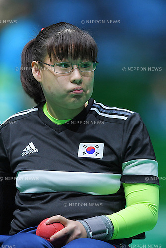 Jeong So Yeong (KOR), <br /> SEPTEMBER 15, 2016 - Boccia : <br /> Individual BC2 Quarter final match between Jeong So Yeong - Hidetaka Sugimura <br /> at Carioca Arena 2<br /> during the Rio 2016 Paralympic Games in Rio de Janeiro, Brazil.<br /> (Photo by AFLO SPORT)