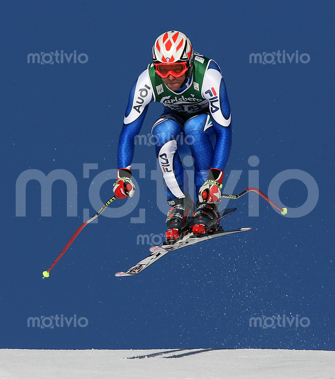 Ski Alpin; Saison 2006/2007  77. Weltcup Abfahrt Herren Walter Girardi (ITA) am Hundschopfsprung