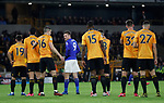 Wolves mark Jamie Vardy of Leicester City during the Premier League match at Molineux, Wolverhampton. Picture date: 14th February 2020. Picture credit should read: Darren Staples/Sportimage