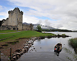 Fishermen head off across Logh Lein at Ross castle, Killarney on a fishing trip.<br /> Picture by Don MacMonagle
