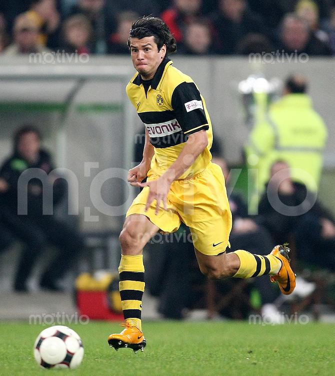 FUSSBALL     1. BUNDESLIGA     SAISON 2007/2008 Nelson VALDEZ (Borussia Dortmund), Einzelaktion am Ball