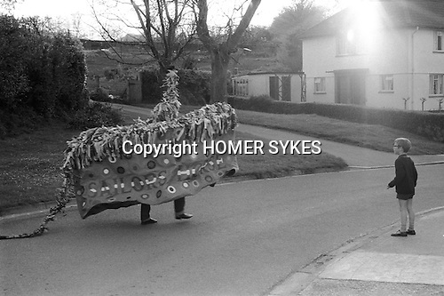 The Minehead Hobby Horse, Minehead, Somerset. 1971 May 1st.<br />