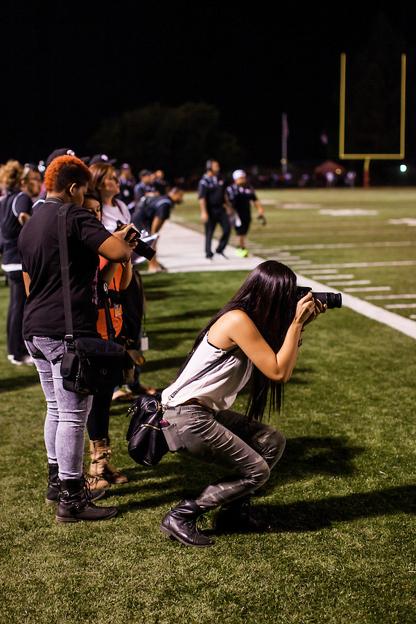Danielle Wilson, Norma Garcia and Dalia Lopez covered the Pittsburg High home opener for The Pirate yearbook staff. Pittsburg High (CA) defeated California High 35-33 on September 6, 2013 in Pittsburg, California.