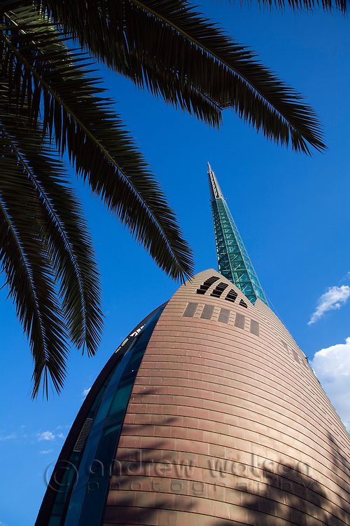 The Swan Bell Tower.  The Perth landmark contains the royal bells of St Martin's-in-the-Fields.  Perth, Western Australia, AUSTRALIA.