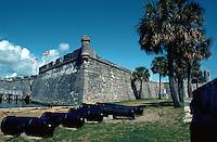 Castillo De San Marcos National Monument, St. Augustine. Spanish fortress. Oldest masonry fort in U.S. (1672). Saint Augustine, Florida.