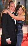 "HOLLYWOOD, CA. - April 26: Actor Clark Gregg and Actress Jennifer Grey  arrive at the ""Iron Man 2"" World Premiere held at the El Capitan Theatre on April 26, 2010 in Hollywood, California."