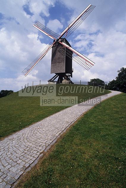 Europe/Belgique/Flandre/Flandre Occidentale/Bruges : Moulin à vent