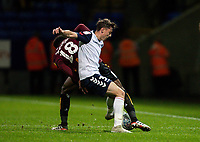 Bolton Wanderers' Eddie Brown (right) competing with Bradford City's Jermaine Anderson <br /> <br /> Photographer Andrew Kearns/CameraSport<br /> <br /> EFL Leasing.com Trophy - Northern Section - Group F - Bolton Wanderers v Bradford City -  Tuesday 3rd September 2019 - University of Bolton Stadium - Bolton<br />  <br /> World Copyright © 2018 CameraSport. All rights reserved. 43 Linden Ave. Countesthorpe. Leicester. England. LE8 5PG - Tel: +44 (0) 116 277 4147 - admin@camerasport.com - www.camerasport.com