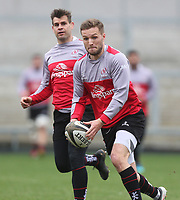 Thursday 12th April 2018 | Ulster Rugby Captain's Run<br /> <br /> Johnny McPhillips during Captain's Run held at Kingspan Stadium, Ravenhill Park, Belfast, Northern Ireland. Photo by John Dickson / DICKSONDIGITAL
