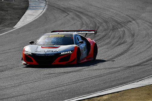 Pirelli World Challenge<br /> Intercontinental GT Challenge California 8 Hours<br /> Mazda Raceway Laguna Seca<br /> Sunday 15 October 2017<br /> Ryan Eversley, Tom Dyer, Dane Cameron, Acura NSX GT3, GT3 Overall<br /> World Copyright: Richard Dole<br /> LAT Images<br /> ref: Digital Image RD_PWCLS17_307