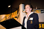 Greta Knarston gives the closing address on behalf of the students. ASB College Sport Young Sportperson of the Year Awards 2007 held at Eden Park on November 15th, 2007.