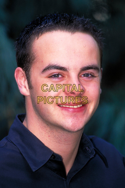 ANTHONY McPARTLIN.pre 1997.Ref: 3173.headshot portrait black blue ant.CAP/HT.©Hugh Thompson/Capital Pictures.