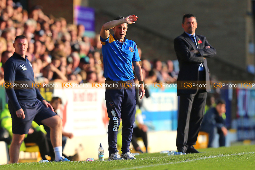 Shrewsbury Town manager Paul Hurst looks on during Southend United vs Shrewsbury Town, Sky Bet EFL League 1 Football at Roots Hall on 29th October 2016