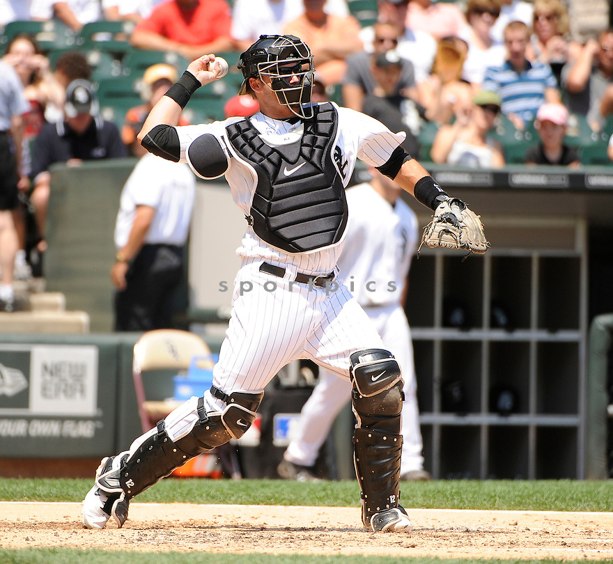 AJ PEIRZYNSKI,  of the Chicago White Sox  in action  during the White Sox  game against the Kansas  City Royals.  The Kansas  City Royals beat the White Sox 4-1 in Chicago, Illinois on July 6, 2011..David Durochik.