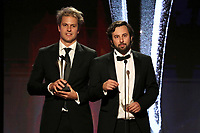 LOS ANGELES - JUNE 2: Wesley Dening, left, and Chris Culvenor accept the best Relationship Show around for 'Dating Around' at the Critics' Choice Real TV Awards at the Beverly Hilton on June 2, 2019 in Beverly Hills, California. (Photo by Willy Sanjuan/PictureGroup)