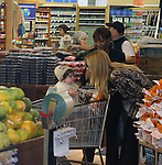 AbilityFilms@yahoo.com.805-427-3519.www.AbilityFilms.com..March 29th 2012..Rachel Zoe shopping at Whole foods market in Beverly Hills. Rachel was carrying her baby Skyler while shopping for apples fruit & food. Rachel was wearing a leopard cheetah print shirt