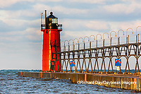 64795-02516 South Haven Lighthouse early morning South Haven,  MI