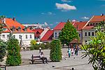 Rynek w Myślenicach, Polska<br /> Market square in Myślenice, Poland