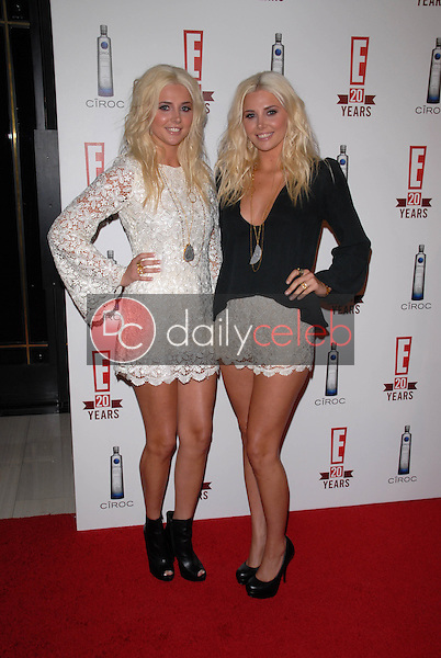 Karissa and Kristina Shannon<br /> at E!'s 20th Birthday Bash Celebrating Two Decades of Pop Culture, The London, West Hollywood, CA. 05-24-10<br /> David Edwards/DailyCeleb.Com 818-249-4998