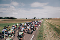 peloton letting the race lead it's course<br /> <br /> 104th Tour de France 2017<br /> Stage 7 - Troyes &rsaquo; Nuits-Saint-Georges (214km)