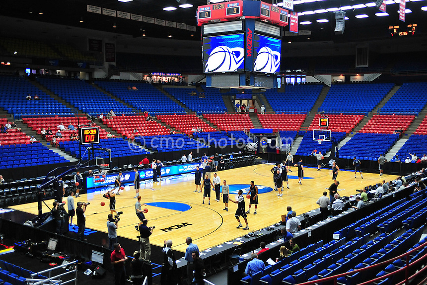 Mar 16, 2011; Tucson, AZ, USA; A general view of the McKale Cener during a Penn State Nittany Lions practice the day before the second round of the 2011 NCAA men's basketball tournament.