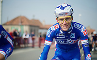 and there is Yoann Offredo (FRA/FDJ) with his vintage Oakley's again...<br /> <br /> 57th E3 Harelbeke 2014