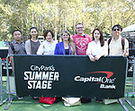 Zhiyoung Liu, Zhenzhu Ma, Yanping Ma, Bonnie Comley, General Manager Matt Wolf, Zuejiao Bai and Wen Chen, Central Academy of Drama: Professors visit The Summer Stage on September 25, 2017 at the The Central Park Summer Stage  in New York City.