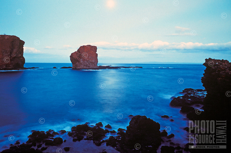 Puupehe Island (Sweetheart Rock) off the coast of Lanai