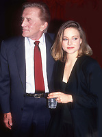 Kirk Douglas and Jodie Foster 1982<br /> Photo By John Barrett/PHOTOlink.net /MediaPunch