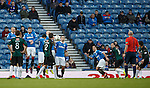 Ryan Conroy lifts the ball over the Rangers wall to score for Raith Rovers