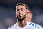 Sergio Ramos of Real Madrid in training prior to the Supercopa de Espana Final 2nd Leg match between Real Madrid and FC Barcelona at the Estadio Santiago Bernabeu on 16 August 2017 in Madrid, Spain. Photo by Diego Gonzalez Souto / Power Sport Images