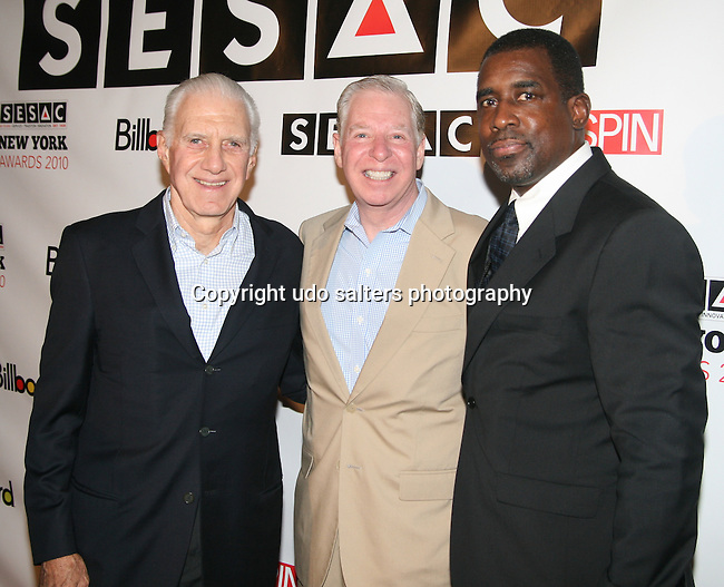 SESAC Chairman CEO Stephan Swid, Pat Collins, President & COO and Trevor Gale, Senior Vice President attend The 2010 SESAC New York Music Awards at IAC Building, New York, 5/12/10