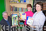 TREASURE TROVE: Members of the Lixnaw Comhaltas Branch which has amassed a huge library of Irish language books which are available to the public from the Ceolann in the village, l-r: Pat Joe Dennehy, Bridie Stack and Liz O'Keeffe.