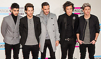LOS ANGELES, CA - NOVEMBER 24: Zayn Malik, Louis Tomlinson, Liam Payne, Harry Styles, Niall Horan of One Direction arriving at the 2013 American Music Awards held at Nokia Theatre L.A. Live on November 24, 2013 in Los Angeles, California. (Photo by Celebrity Monitor)